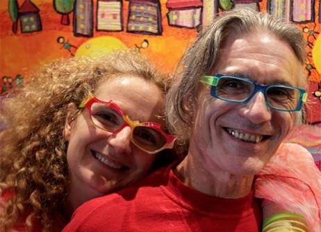 Les GUALLINO Anne Poiré et Patrick Guallino Artiste Peintre et poète Galerie d'Art Sylvie Platini Lyon Annecy