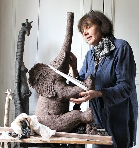 Sophie VERGER Artiste Sculpteur sculpture à la Galerie d'Art Sylvie Platini Lyon Annecy