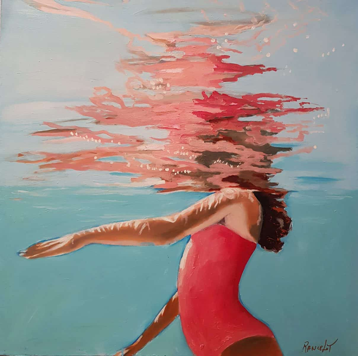 Christiane RANCELOT Artiste Peintre Galerie d'Art Sylvie Platini Lyon Annecy